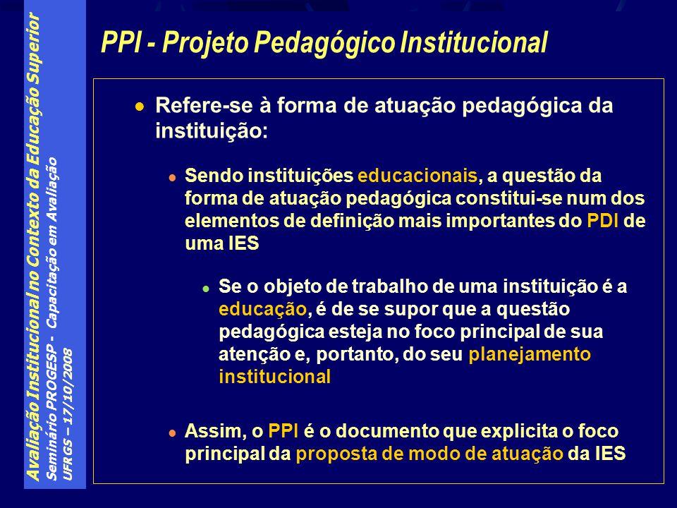 PPI - Projeto Pedagógico Institucional