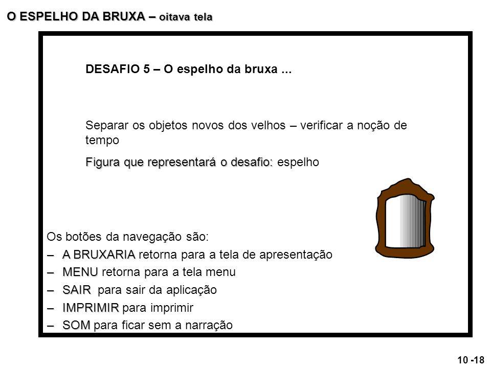 O ESPELHO DA BRUXA – oitava tela