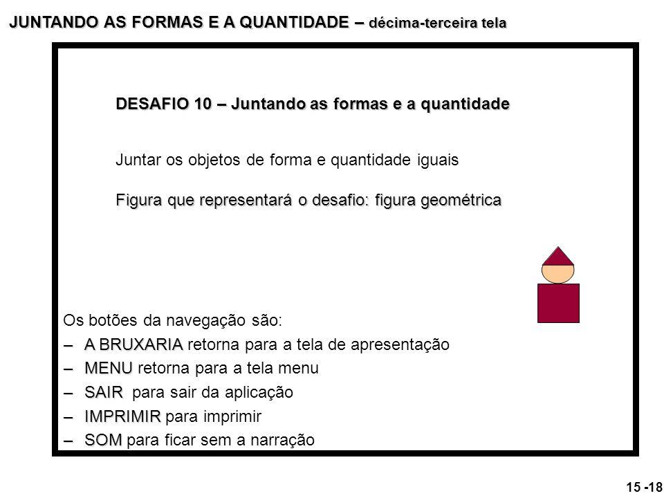 JUNTANDO AS FORMAS E A QUANTIDADE – décima-terceira tela