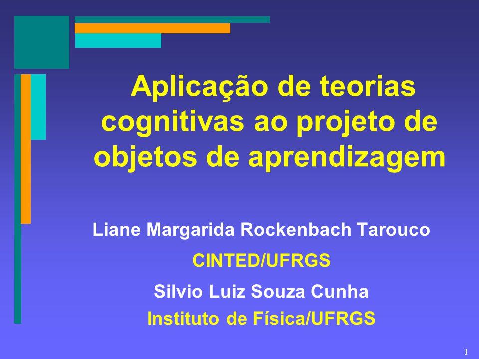 Aplicação de teorias cognitivas ao projeto de objetos de aprendizagem
