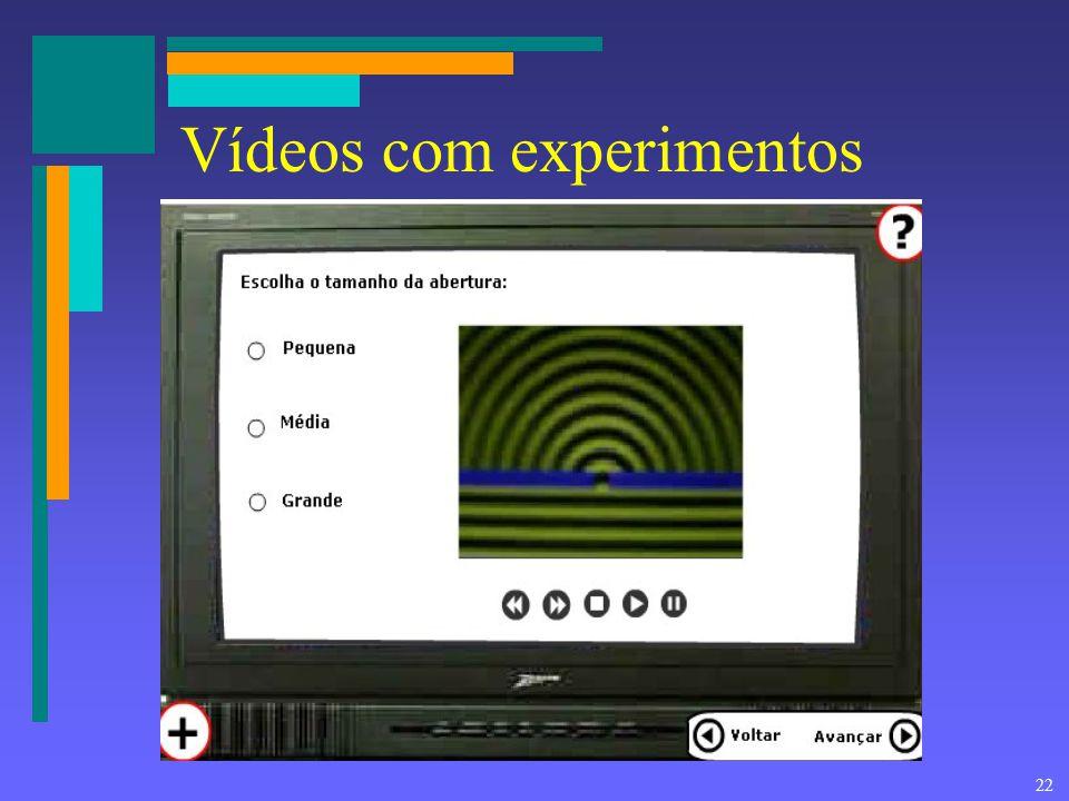 Vídeos com experimentos