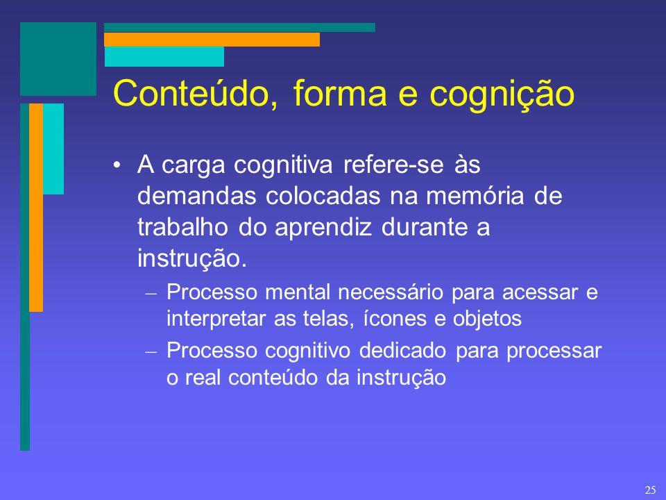 Conteúdo, forma e cognição