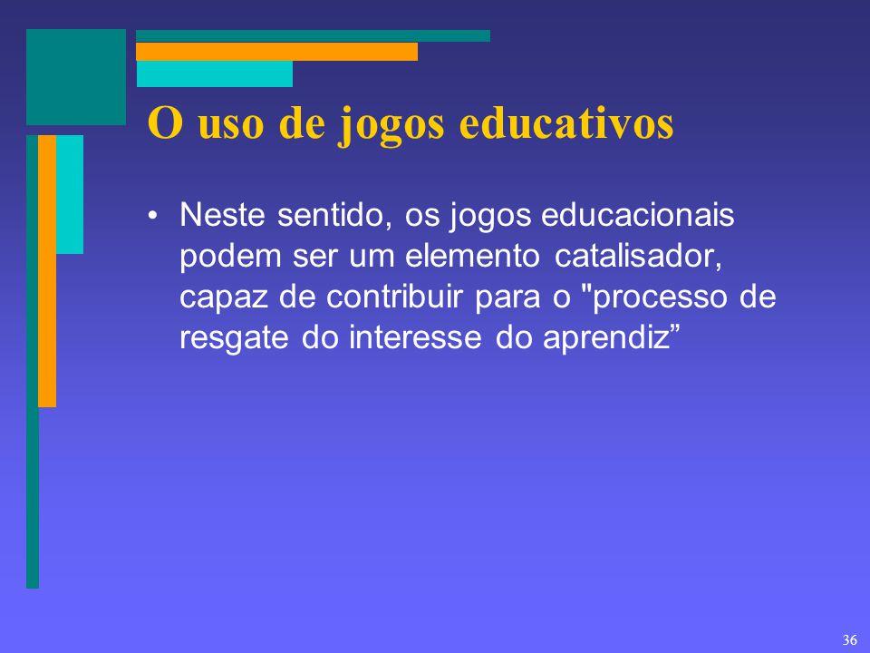 O uso de jogos educativos