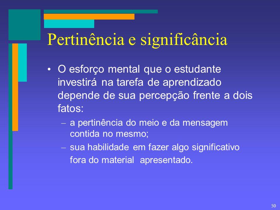 Pertinência e significância