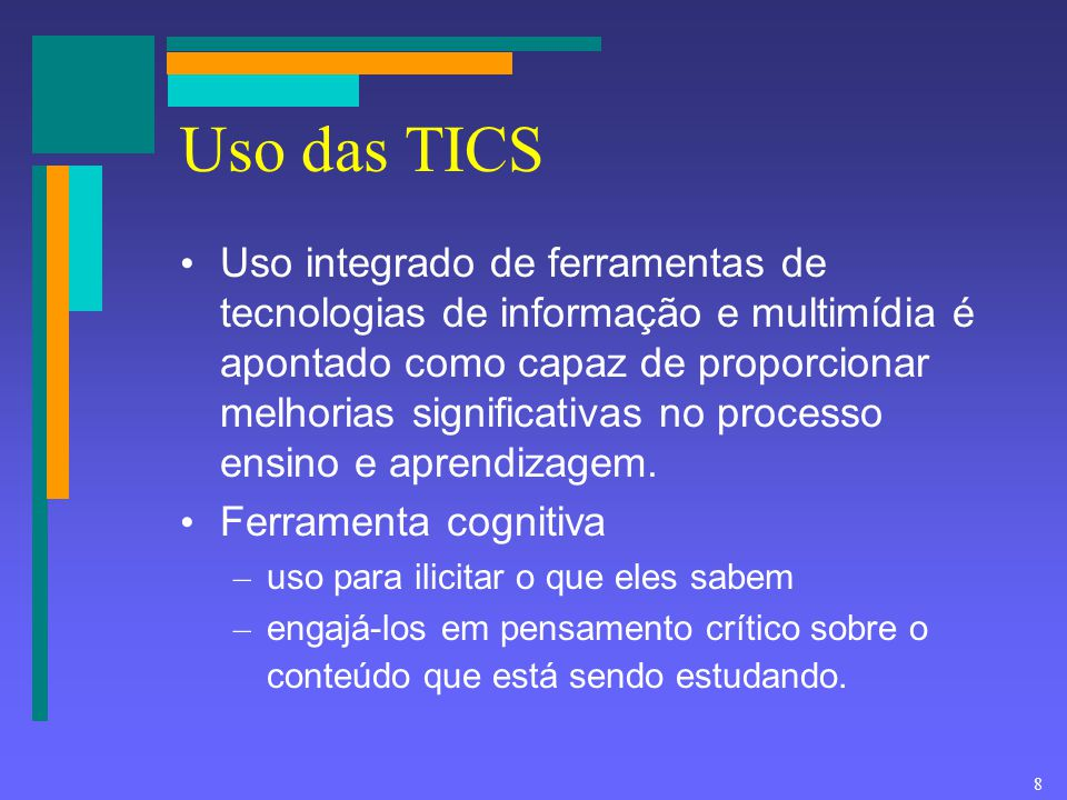 Uso das TICS