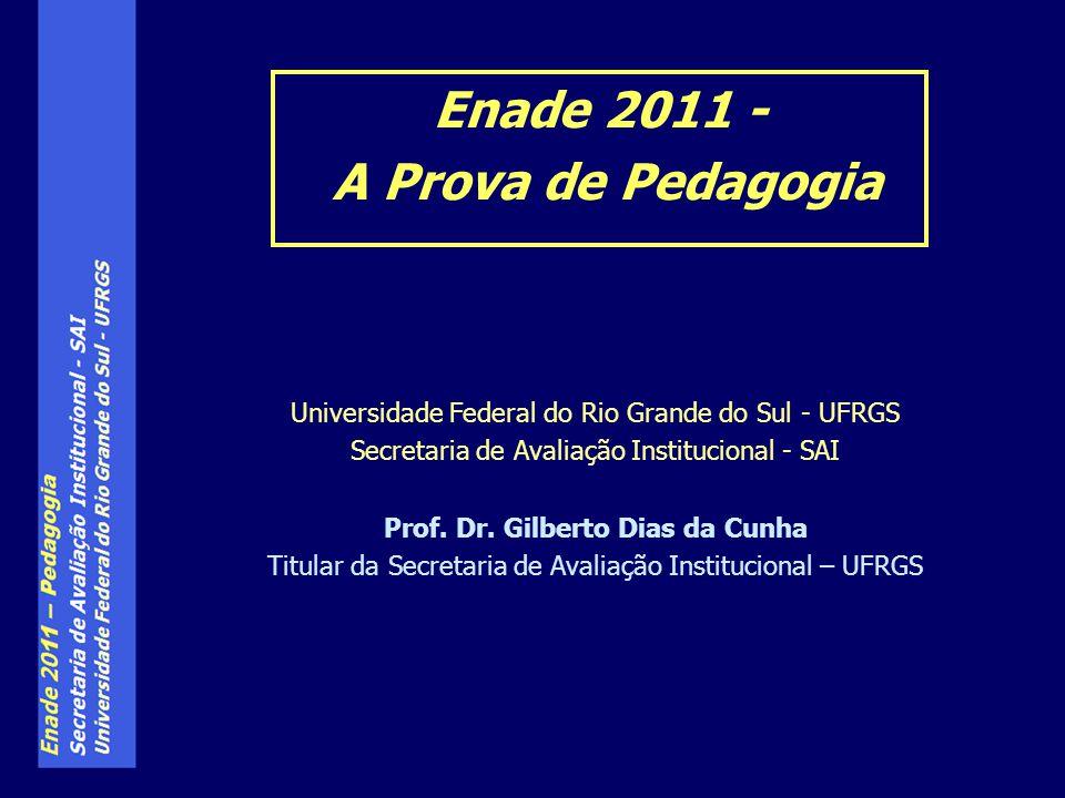 Enade 2011 - A Prova de Pedagogia