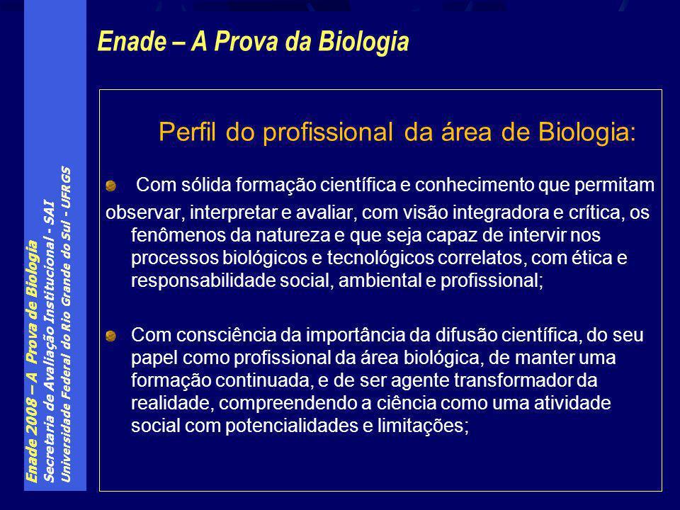 Enade – A Prova da Biologia