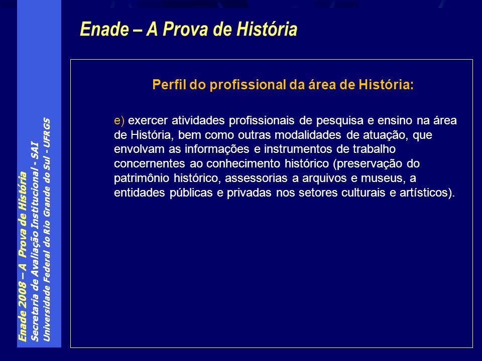Enade – A Prova de História