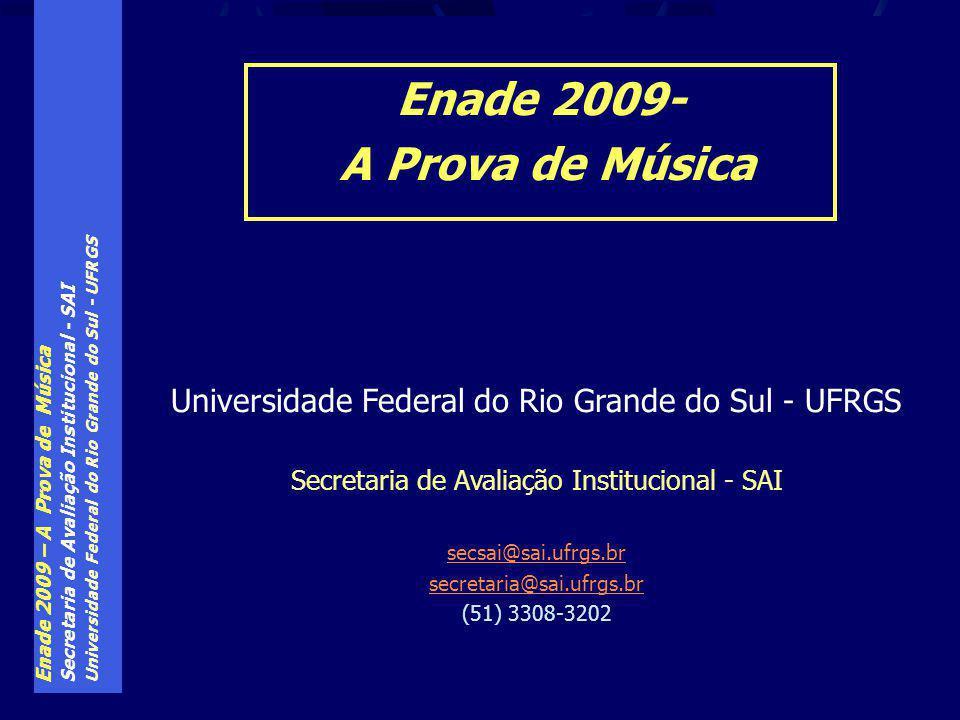 Enade 2009- A Prova de Música
