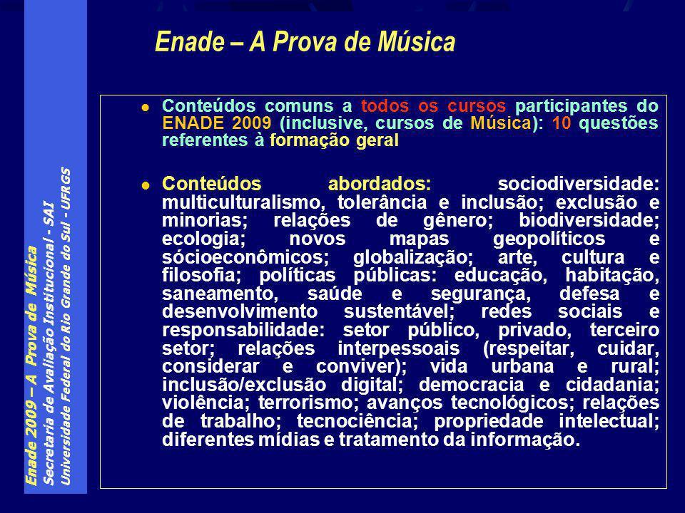 Enade – A Prova de Música