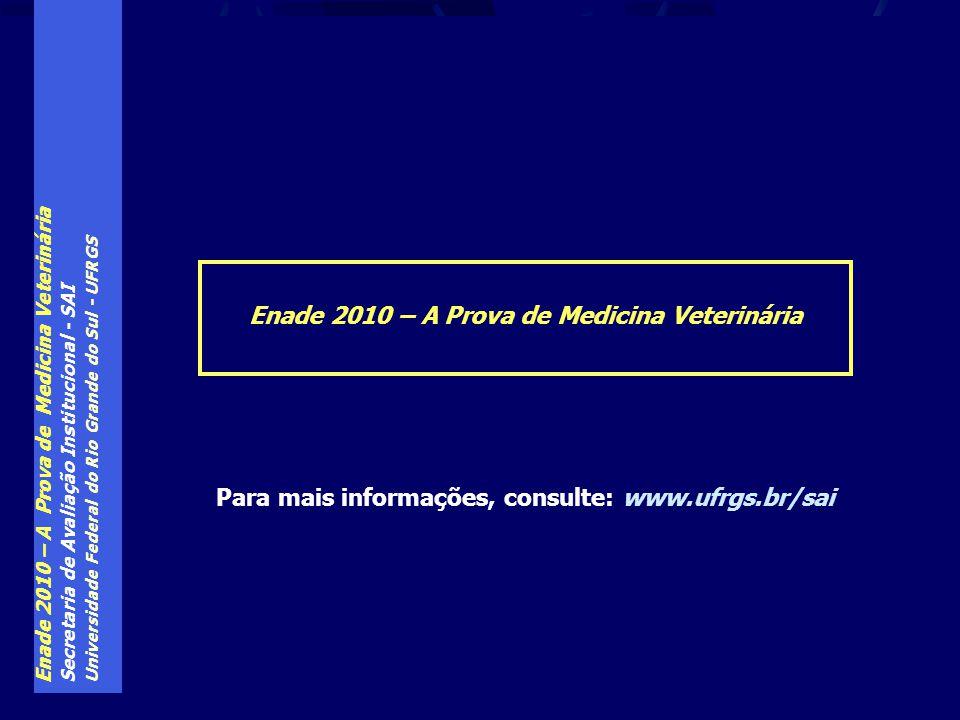 Enade 2010 – A Prova de Medicina Veterinária