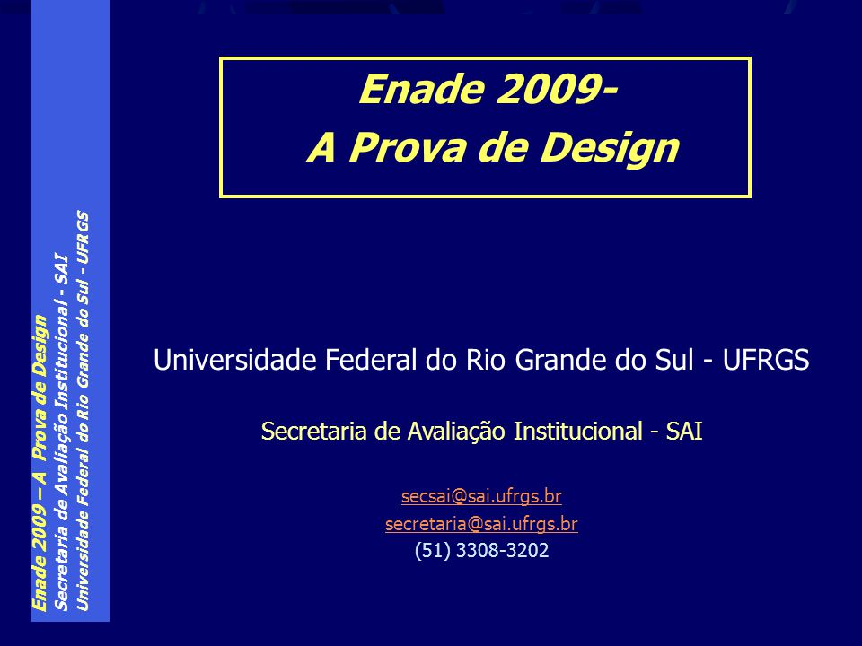 Enade 2009- A Prova de Design