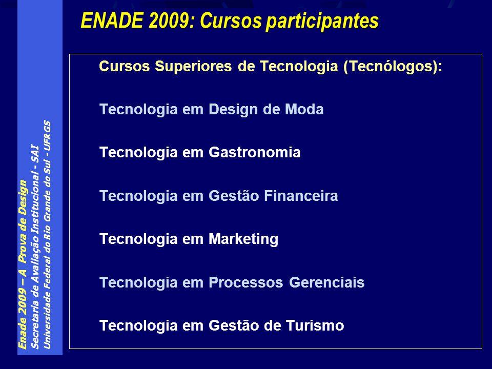ENADE 2009: Cursos participantes
