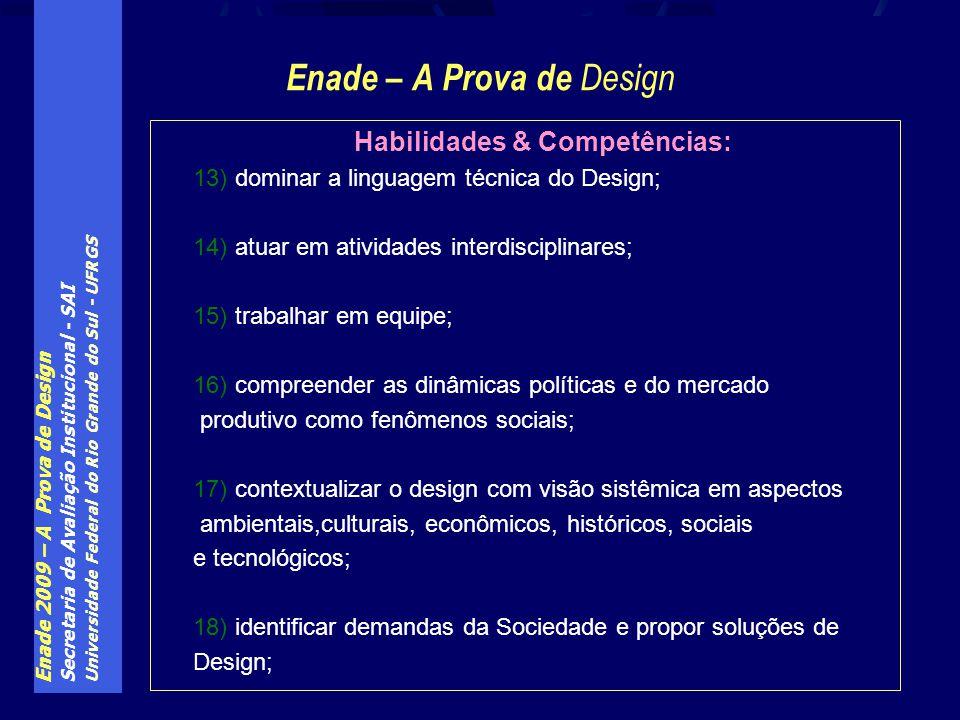 Habilidades & Competências: