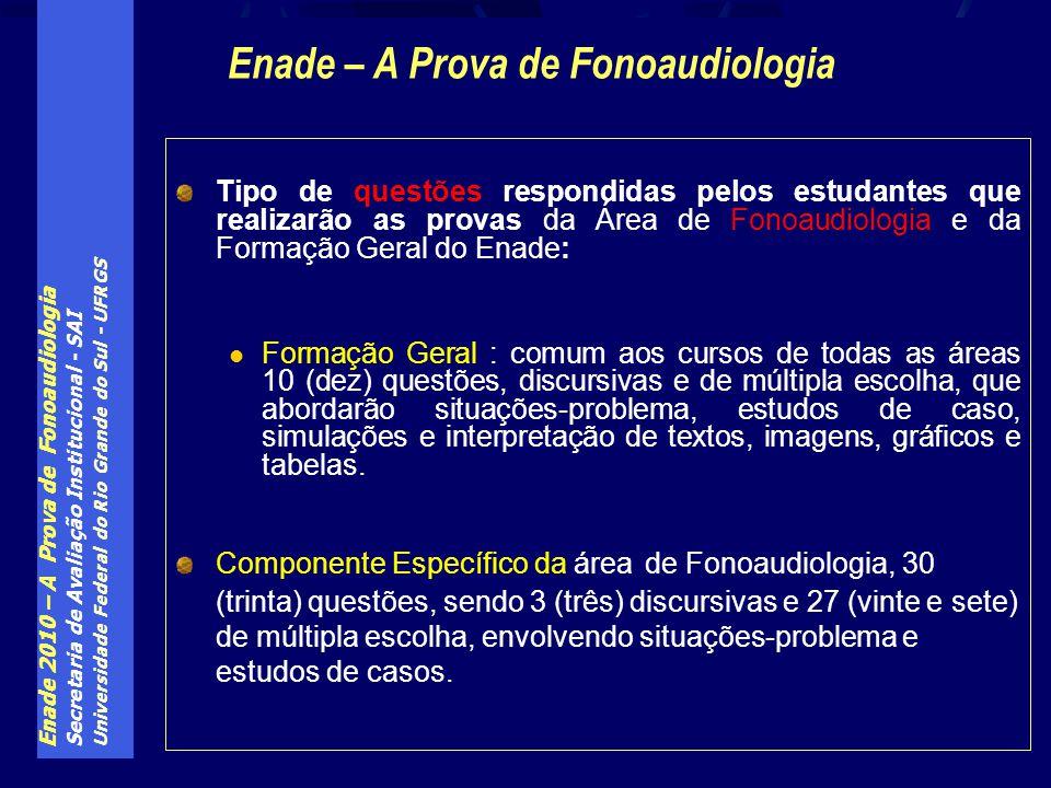 Enade – A Prova de Fonoaudiologia