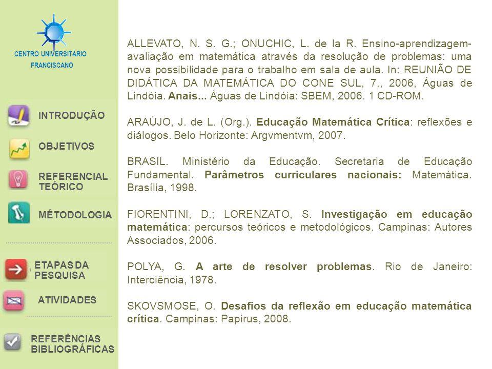 ALLEVATO, N. S. G. ; ONUCHIC, L. de la R