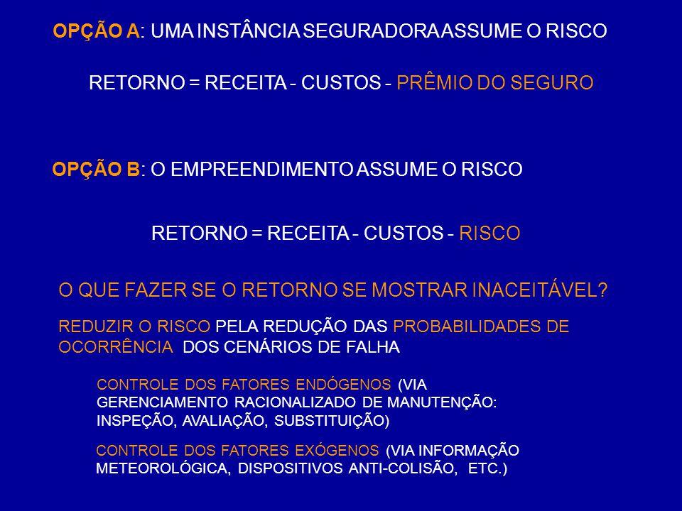OPÇÃO A: UMA INSTÂNCIA SEGURADORA ASSUME O RISCO