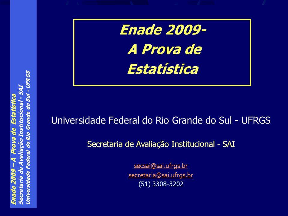 Enade 2009- A Prova de Estatística