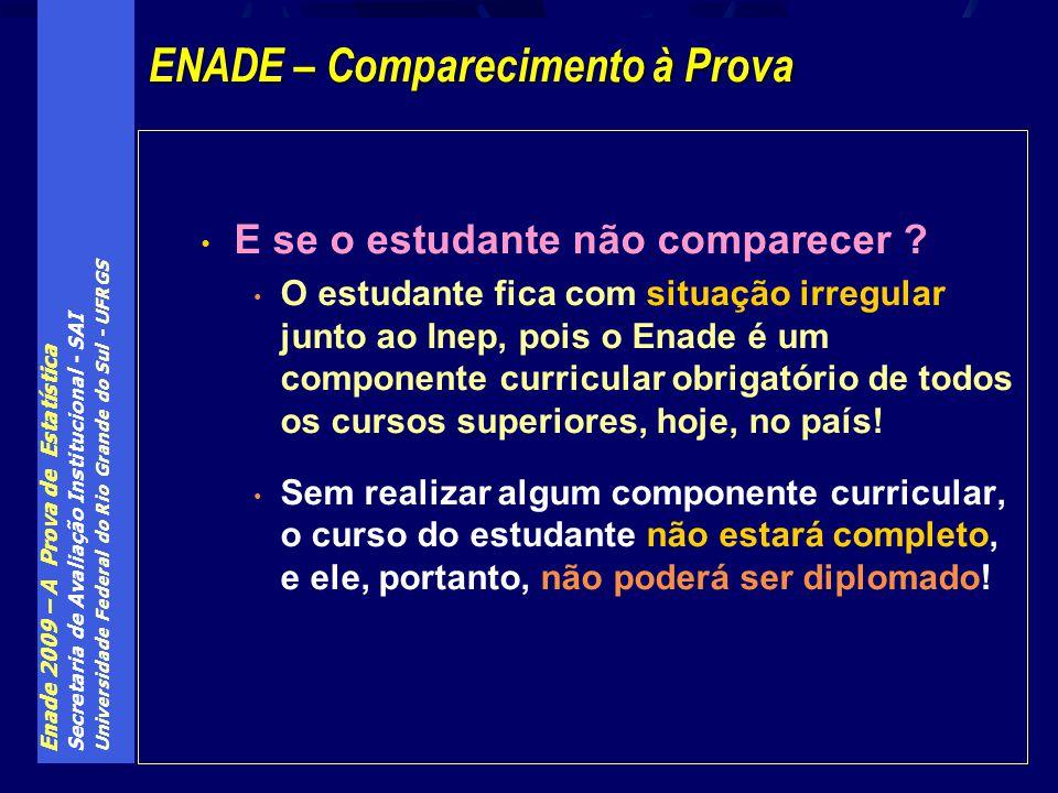 ENADE – Comparecimento à Prova