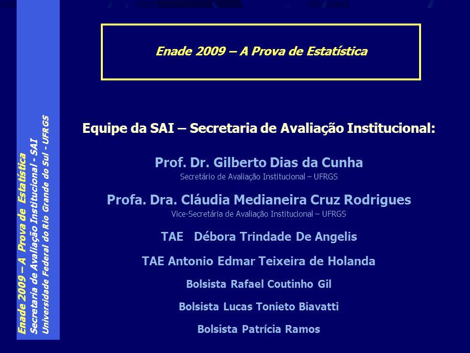 Equipe da SAI – Secretaria de Avaliação Institucional: