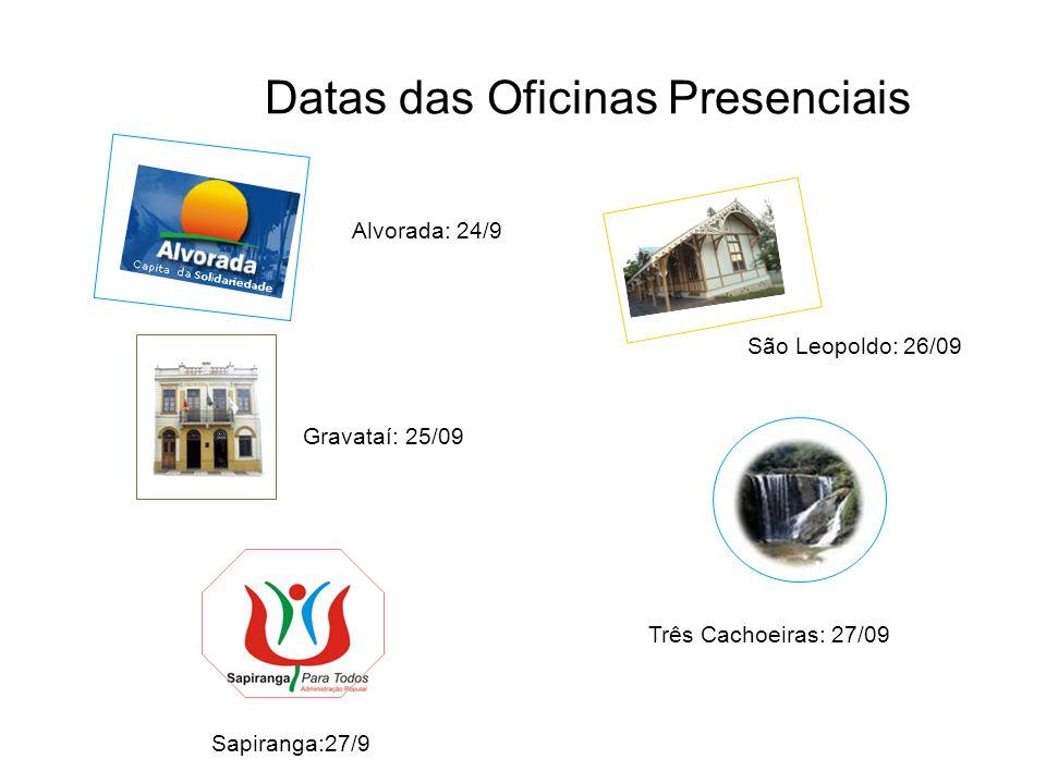 Datas das Oficinas Presenciais