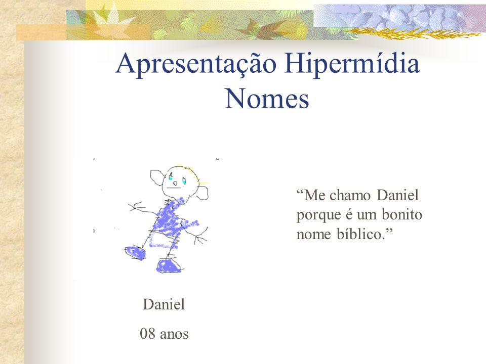 Apresentação Hipermídia Nomes