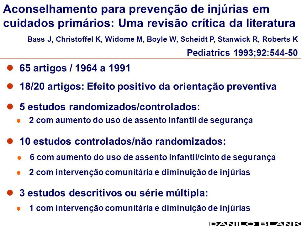 Aconselhamento para prevenção de injúrias em cuidados primários: Uma revisão crítica da literatura