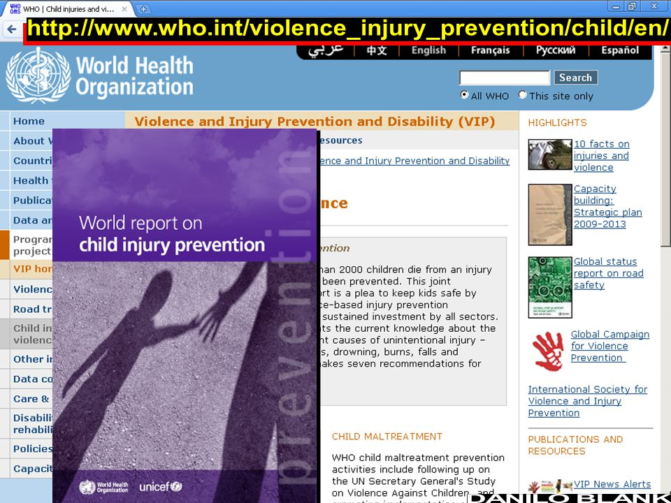 http://www.who.int/violence_injury_prevention/child/en/ DANILO BLANK