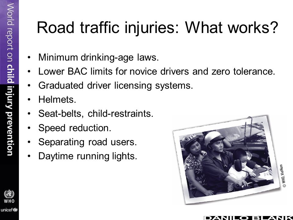 Road traffic injuries: What works