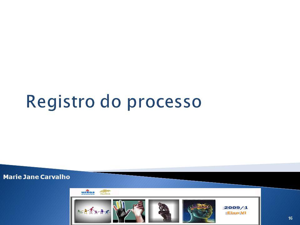 Registro do processo