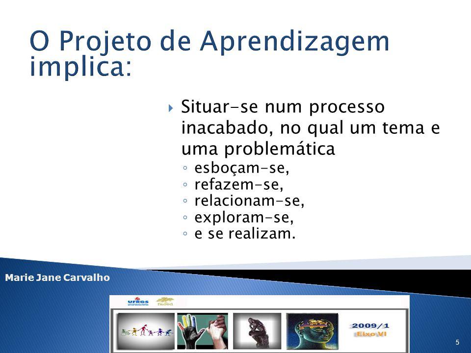 O Projeto de Aprendizagem implica: