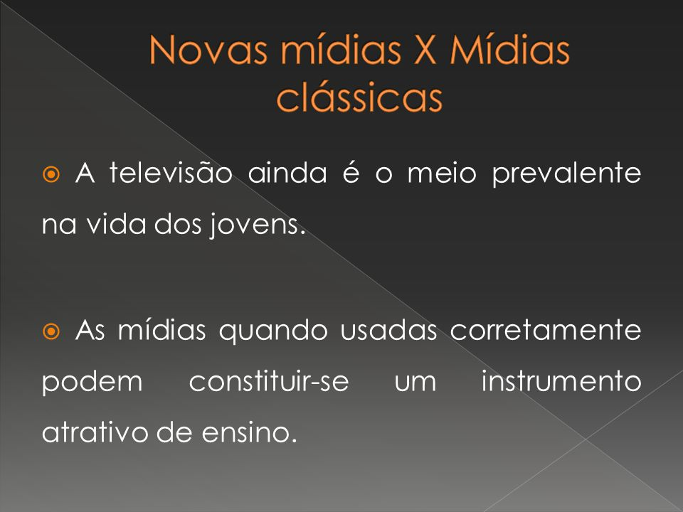 Novas mídias X Mídias clássicas