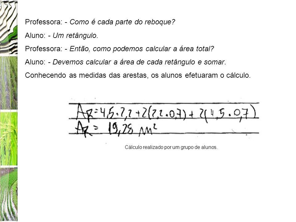Cálculo realizado por um grupo de alunos.