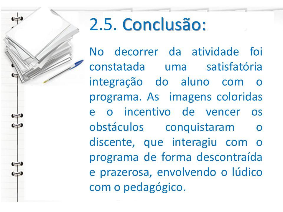 2.5. Conclusão: