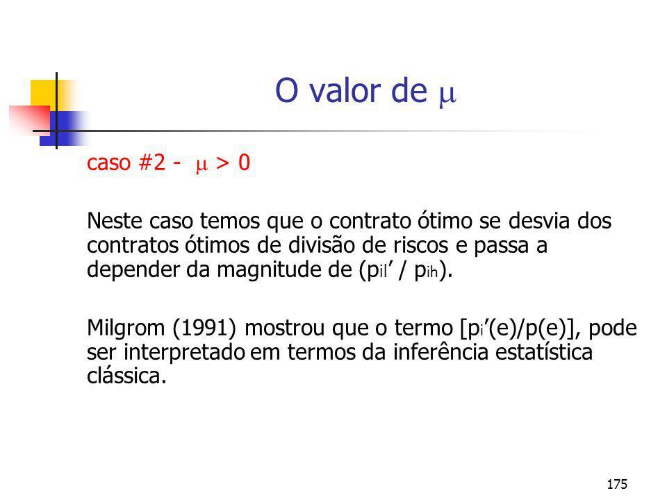 O valor de  caso #2 -  > 0