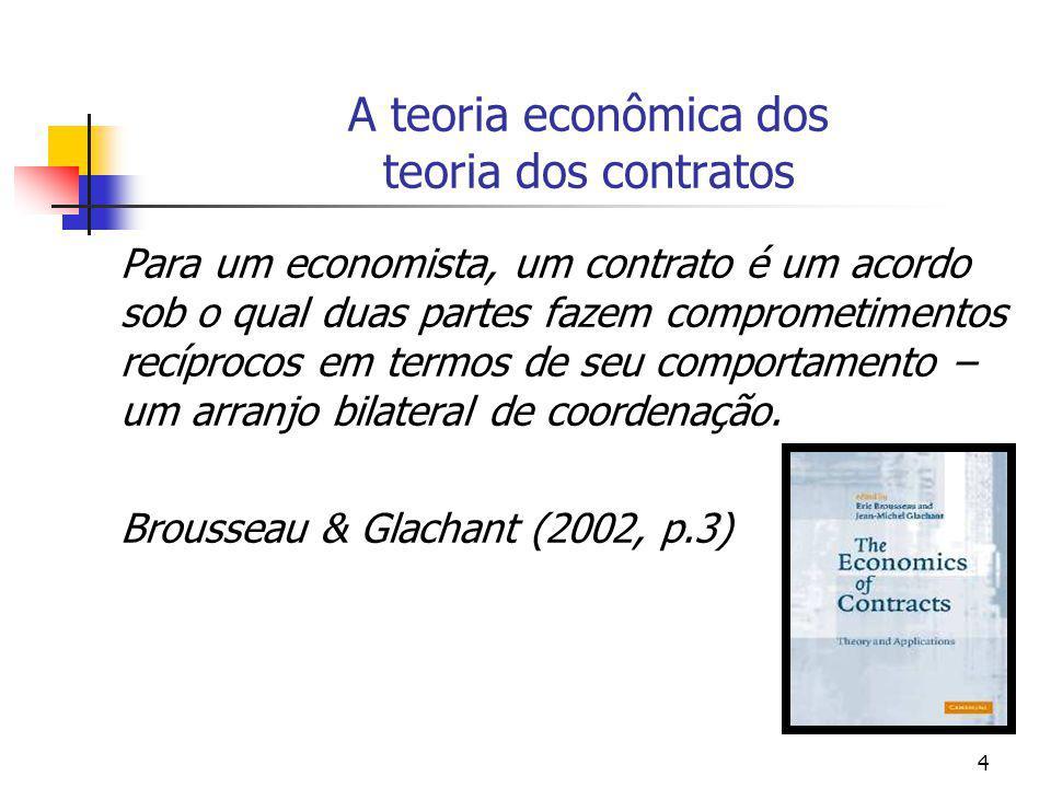 A teoria econômica dos teoria dos contratos