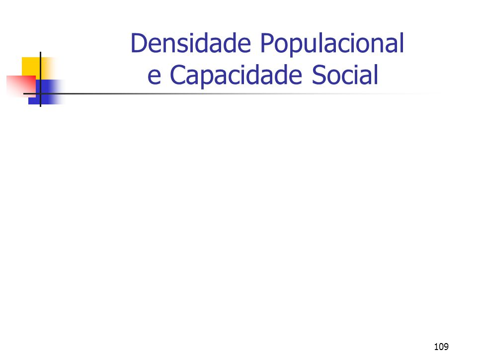 Densidade Populacional e Capacidade Social