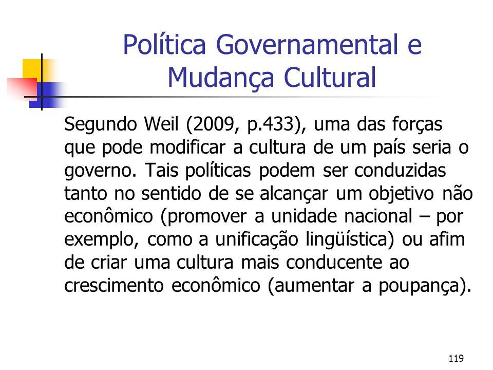 Política Governamental e Mudança Cultural