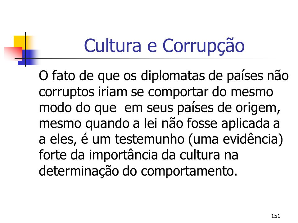 Cultura e Corrupção