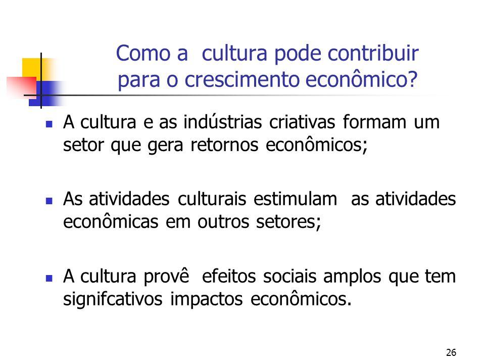 Como a cultura pode contribuir para o crescimento econômico