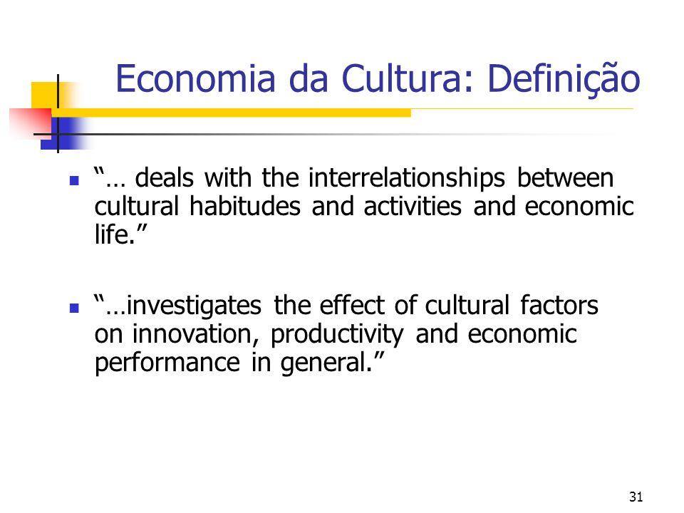 Economia da Cultura: Definição