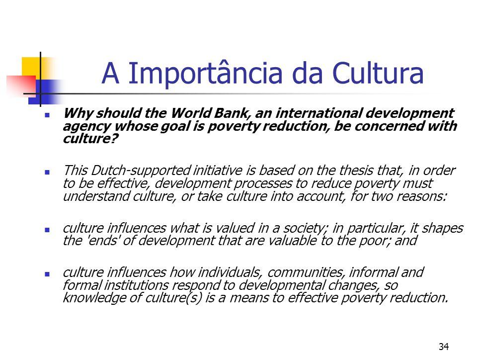 A Importância da Cultura