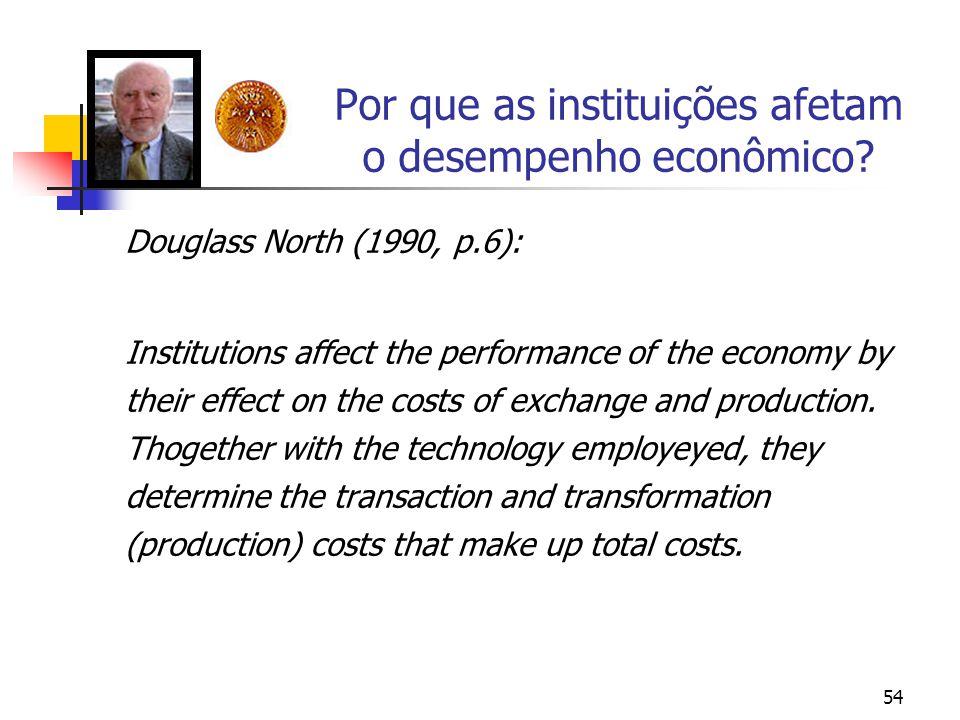Por que as instituições afetam o desempenho econômico