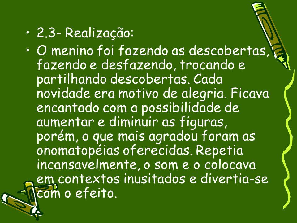 2.3- Realização: