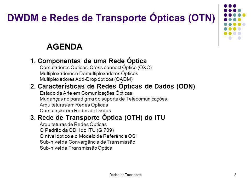 DWDM e Redes de Transporte Ópticas (OTN)