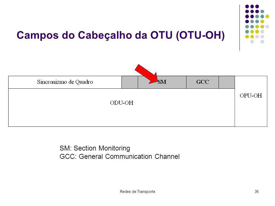Campos do Cabeçalho da OTU (OTU-OH)