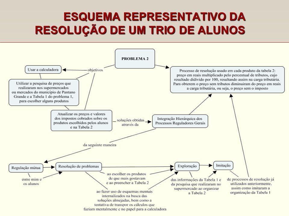 ESQUEMA REPRESENTATIVO DA RESOLUÇÃO DE UM TRIO DE ALUNOS