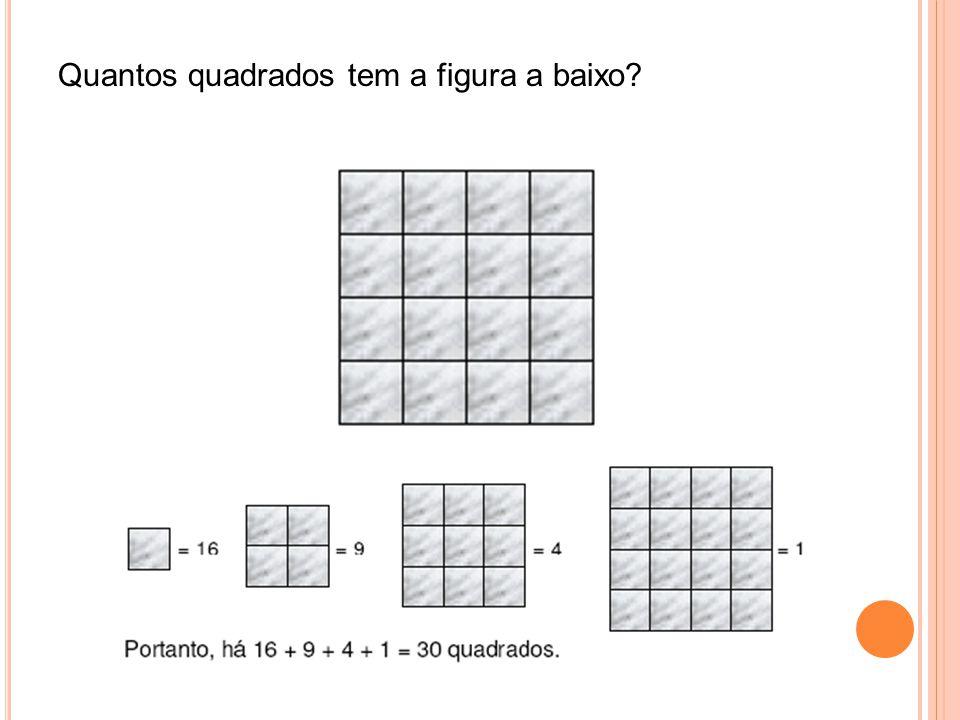 Quantos quadrados tem a figura a baixo