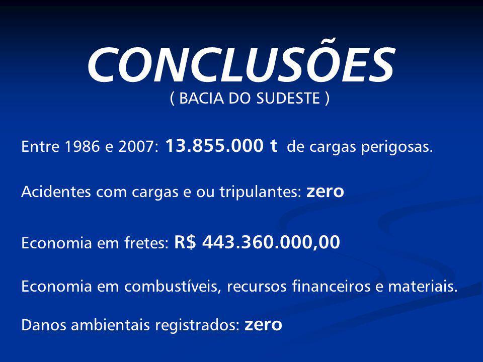 CONCLUSÕES ( BACIA DO SUDESTE )