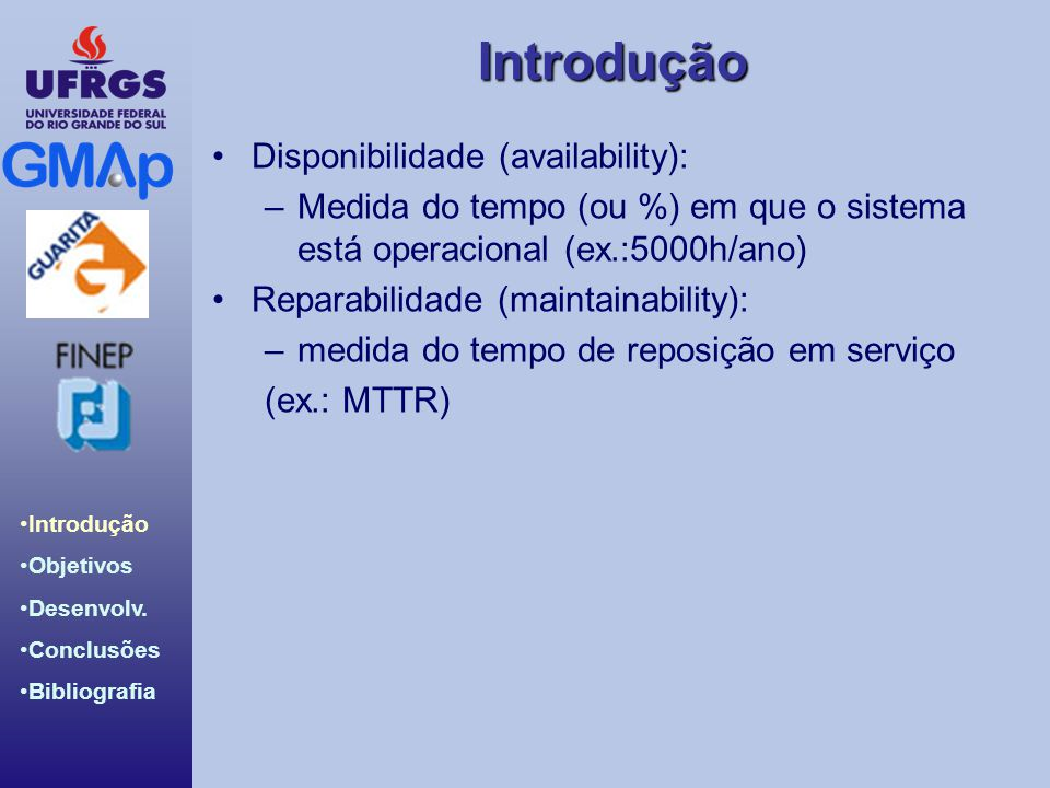 Disponibilidade (availability):